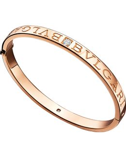 - 18kt Pink-gold And Diamond Bangle
