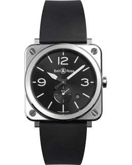 Brsblcst Aviation Steel And Rubber Watch
