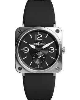 Br-s Black Steel Automatic Watch