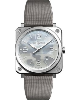 Brscamost Aviation Steel And Satin-leather Watch
