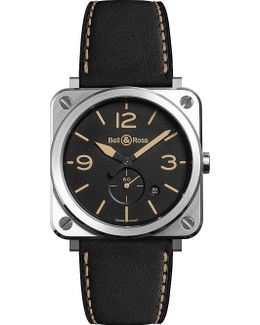 Br S Heritage Aviation Stainless Steel And Leather