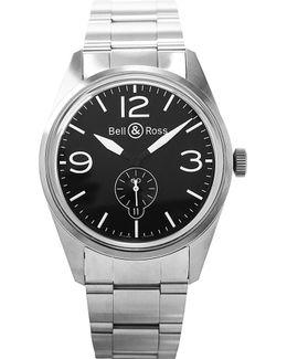 Brv123-bl-st/sst Vintage Original Automatic Stainless Steel Watch