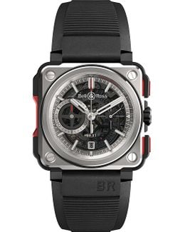 Brx1-ce-ti-red Titanium And Rubber Chronograph Watch