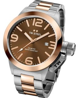 Cb151 Canteen Rose Gold Pvd-plated And Stainless Steel Watch