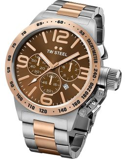 Cb153 Canteen Rose Gold Pvd-plated And Stainless Steel Chronograph Watch