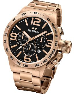 Cb173 Canteen Rose Gold Pvd-plated Stainless Steel Chronograph Watch