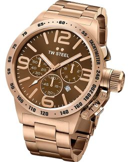 Cb193 Canteen Rose Gold Pvd-plated Stainless Steel Chronograph Watch