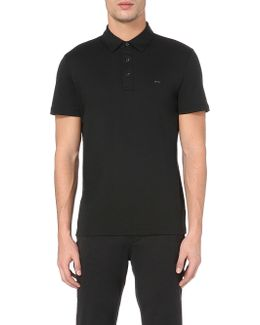 Short-sleeved Cotton-jersey Polo Shirt