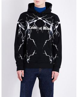 Thunder-print Cotton-jersey Hoody