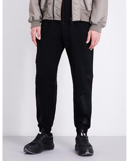 Zip-detailed Relaxed-fit High-rise Cotton-jersey Jogging Bottoms
