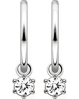 Zirconia Hinged Hoop Earrings