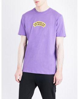 Crest Logo-print Cotton-jersey T-shirt