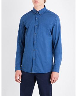 Slim-fit Button-down Cotton Shirt