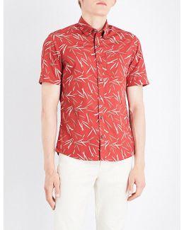 Bamboo-print Cotton Shirt