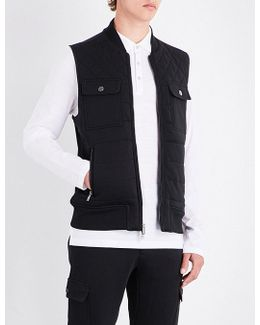 Regular-fit Knitted Quilted Gilet