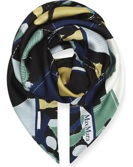 Curvato Abstract-print Silk Scarf