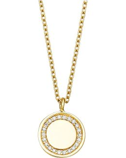 Cosmos 14ct Yellow-gold And Diamond Pendant Necklace