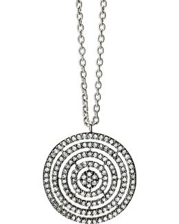 14-carat White-gold And Diamond Concentric Circle Pendant