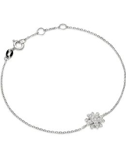 Starburst 18-carat White Gold And Diamond Bracelet