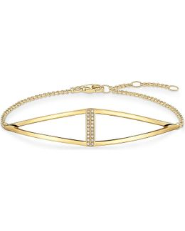 Triangle Yellow Gold-plated And Diamond Bracelet