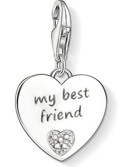 Charm Club Silver And Diamond Best Friend Charm