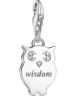 Wisdom Sterling Silver And Diamond Charm