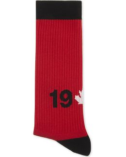 1964 Maple Leaf Cotton-blend Socks