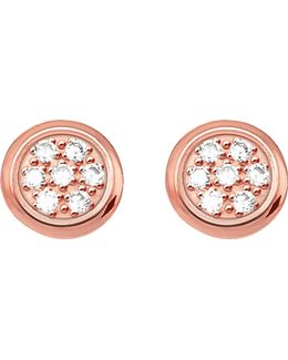 Glam & Soul Rose Gold-plated And Diamond Studs