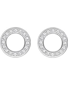 Glam & Soul Sterling Silver And Diamond Earrings