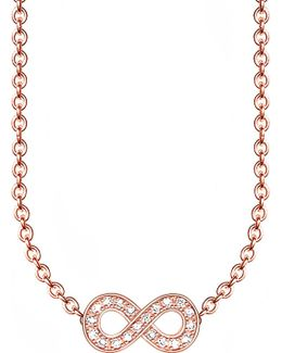 Glam & Soul Infinity 18ct Rose Gold-plated Diamond Necklace