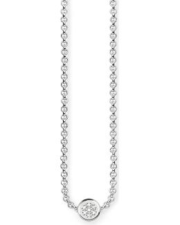 Glam & Soul Sterling Silver And Diamond Necklace