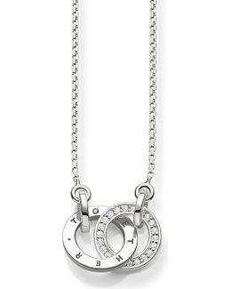 Together Sterling Silver And Diamond Necklace