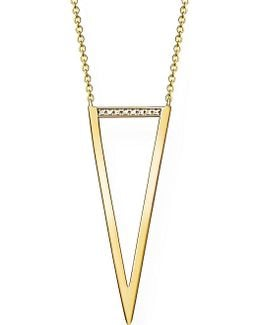 Triangle 18ct Yellow Gold-plated Diamond Necklace