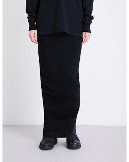 Drawstring-waistband Stretch-cotton Skirt