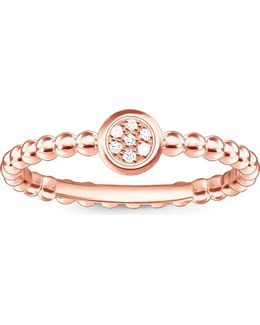 Glam & Soul 18ct Rose Gold-plated Diamond Ring
