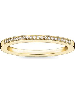 Infinity 18ct Yellow Gold-plated Diamond Band