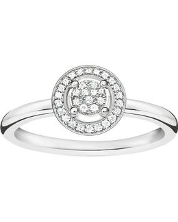 Glam & Soul Sterling Silver Diamond Ring