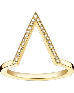 Triangle 18ct Yellow Gold-plated Diamond Ring
