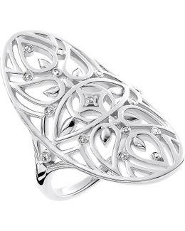 Evil Eye Mandala Sterling Silver And Diamond Ring