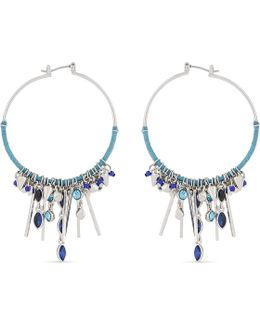 Ladies Luxury Gemma Charm Hoop Earrings