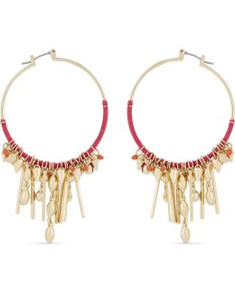 Gemma Charm Hoop Earrings