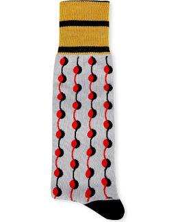Abstract-print Cotton Socks