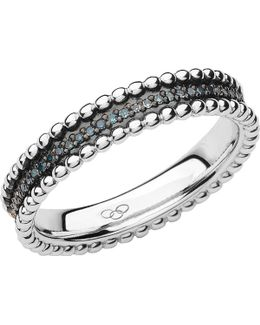 Effervescence Sterling Silver And Diamond Band Ring