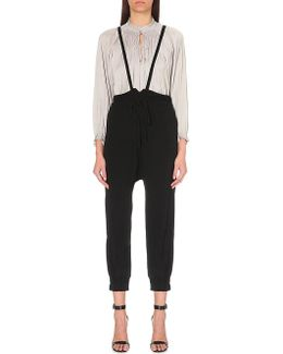 Freja High-rise Tapered Cropped Trousers