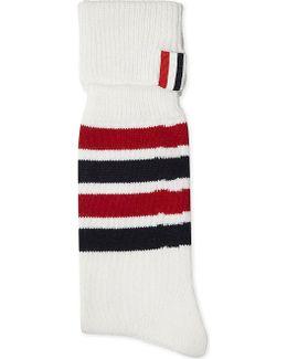 Striped Cashmere-blend Socks