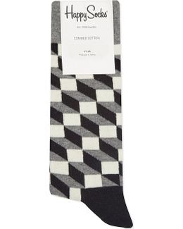 Optic Box-patterned Socks
