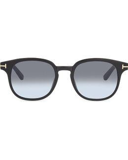 Tf399 Frank Tortoiseshell Round-frame Sunglasses