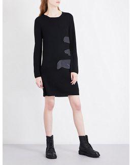 Splash Wool Mini Dress