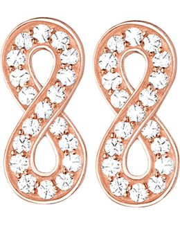 Glam & Soul Infinity 18ct Rose Gold-plated And Zirconia Earrings