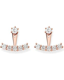Rose-gold Cubic Zirconia Ear Jackets